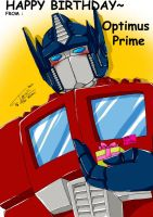 Happy Birthday from Optimus P. by Tc-Chan