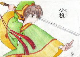 Bring it on Syaoran, coloured by Xiao-Lang
