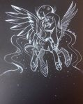 White Ink Drawing- Luna by MizuLela