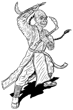Aric the Half Orc Monk by GerrySwanson