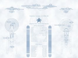 Excelsior Class Schematic by arrghman
