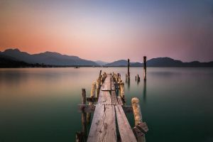 Wooden Pier by kohchangphotography