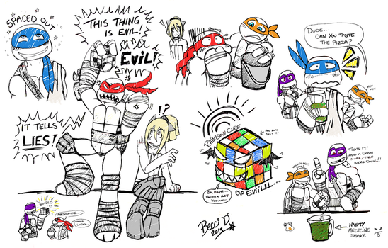 TMNT RP Sketch Dump by Mysterious-D