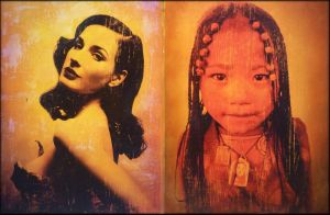 dita yellow and tibetGirl by Artby2Heads