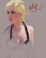 Portrait Practice WIP by Akadafeathers