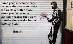 Banksy by catpuck