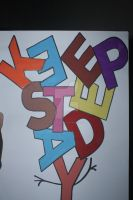 my painting typography by tryingcatchup