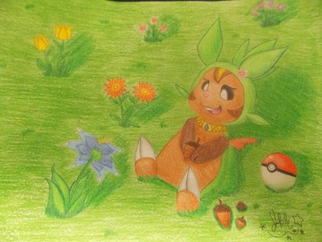 .:Clover the Chespin:. by SonicPokemonPrincess