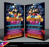 Monster Party Halloween Flyer Template by AnotherBcreation