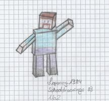Schooldrawing: Minecraft Char by Lopunny1984