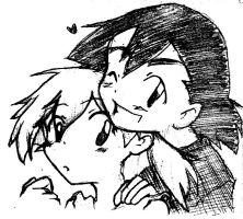 Pokeshipping-random-sketch-contrasted by mizu44contestshipper