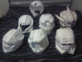 Halo helmet collection WiP by Sutekhian