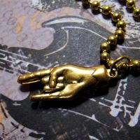 Rock On Necklace by Om-Society