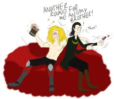 Shut up, Thor you're drunk by Teddie-Chan