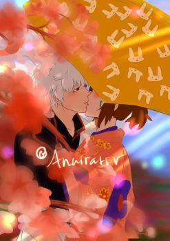 GinTae Kissing by Anairativ