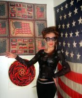 Me and my antique American flags 45 48 stars by SOFIAMETALQUEEN