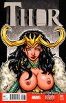 Naughty Female Loki bust cover by gb2k