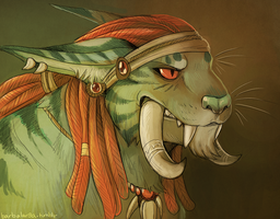 troll cat by edface