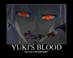 Vampire Knight-Yuki's blood by justanother763