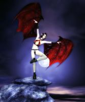 And The Dark Angel Dances by LunarBerry