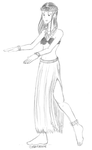 free sketch- KEK hula dancer by Kira-Ani-McGrath