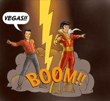 TLIID Superhero-rockstar mashups Elvis and Shazam by Nick-Perks