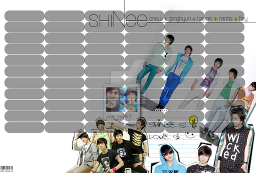 SHINee timetable#9 by chicky7333