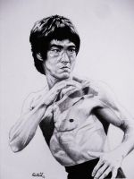 Bruce Lee by carlosvelasquezart