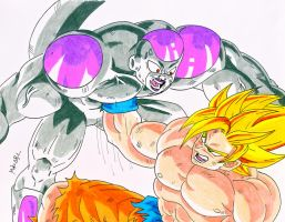 Goku Vs Freezer by MikeES