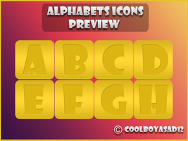 Alphabet Icons by Coolboyasad12