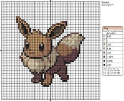 133 - Eevee by Makibird-Stitching