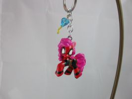 Pinkie as Deadpool Keychain #2 by DeadHeartMare