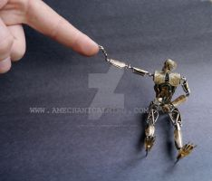 Number 5 (Articulated Watch Parts Figure) IV by AMechanicalMind