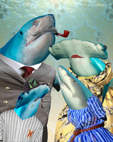 Photoshop project about sharks by gay-walrus