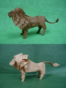 Origami Lions by origami-artist-galen