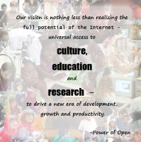 Creative Commons Quote from Power of Open by Paradasia