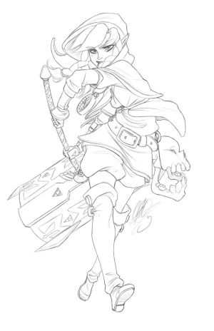 Linkle Sketch commission by O-Orbis