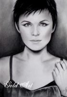 Ginnifer Goodwin Speed Drawing by ArtGoldArt