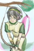 Toph Fishing Confusion by cartoonwedgielover