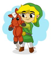 Link and Epona by tweakfox