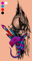 Shaded Tattoo Lolly by Rey J. by reyjdesigns