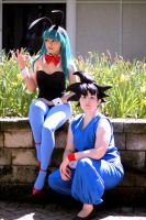 DB Cosplay - Bulma and Goku by TechnoRanma
