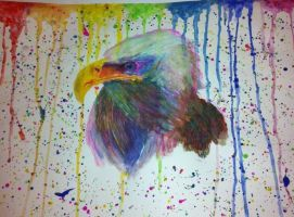 Eagle painting by MrTrimbos