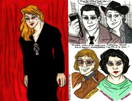 Twin Peaks Sketches by NOTEBLUE13