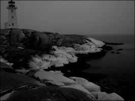 Winter at Peggy's Cove by Nicandor