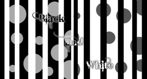 Black and White with dots by sweetkristina07