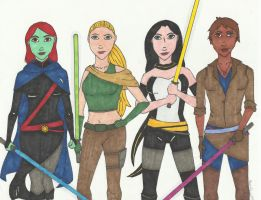 Young Jedi Justice by mandalyn13