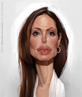 Angelina Jolie by creaturedesign
