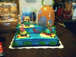 My Spongebob cake 1 by brittinroberts