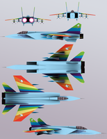 Rainbow Dash fighter jet by anarchemitis